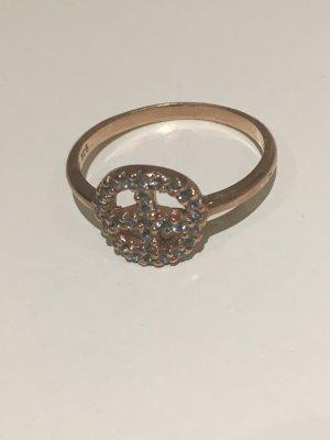 New One PEACE Ring rosé vergoldet mit hellblauen Topas Steinen, NEU und ungetragen! Gr. 58