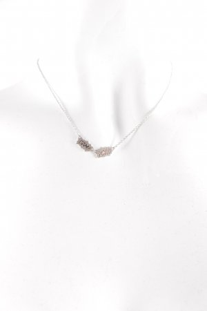 New One Silberkette silberfarben minimalistischer Stil