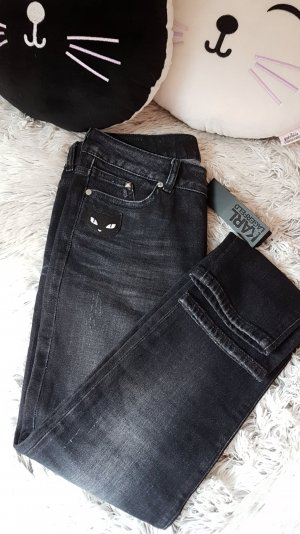 New Skinny Dark Washed Jeans mit Choupette Motiv