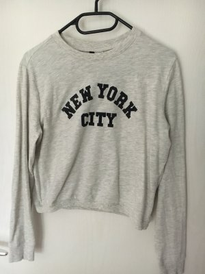 H&M Pull oversize gris clair