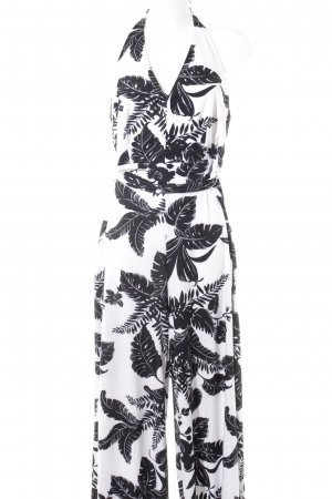 New York & Company Jumpsuit schwarz-weiß florales Muster Beach-Look