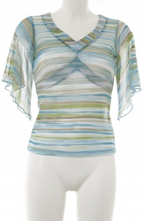 New York & Company Transparenz-Bluse Streifenmuster Transparenz-Optik