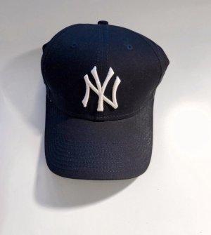 New Era Casquette de baseball bleu foncé-blanc