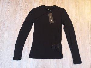 Amisu Colshirt zwart