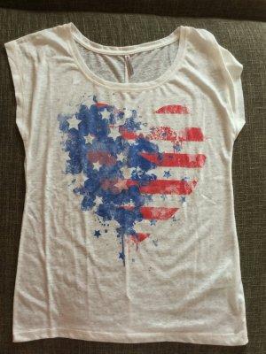 New Yorker Fishbone T-Shirt im American Style