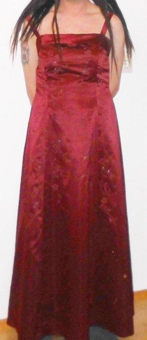 Newyork Fashion Abendkleid Ballkleid Gr 42 weinrot