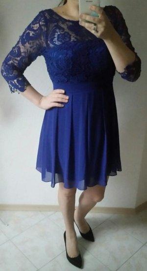 Next Abendkleid blau Spitze 40