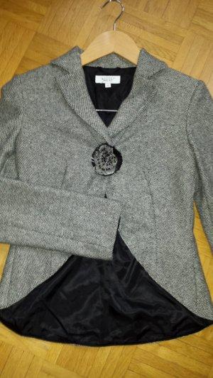 Next Blazer in tweed nero-bianco Lana