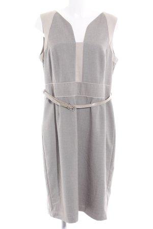 Next Falda estilo lápiz beige-gris claro estilo «business»