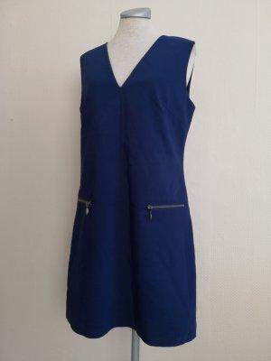 Next Vestido línea A azul oscuro-color oro