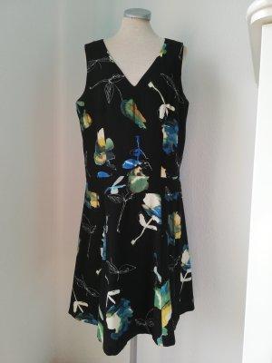 Next Etuikleid Gr. UK 14 EUR 42 schwarz Blumen Skaterkleid Kleid kurz retro