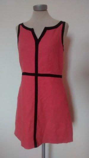 Next Etuikleid Leinenkleid rosa schwarz Gr UK 10 EUR 38 Sommerkleid Kleid Leinen