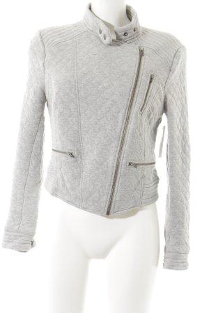 Next Fleece Jackets light grey check pattern casual look
