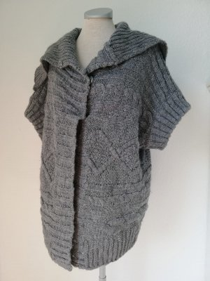 Next Grobstrick Strickjacke Cardigan grau Gr. L 40 42 44 layering Look