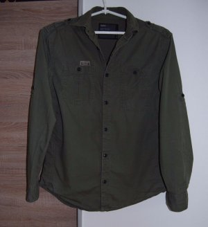 NEXT Grün Damen Military Stil Bluse, Größe: S