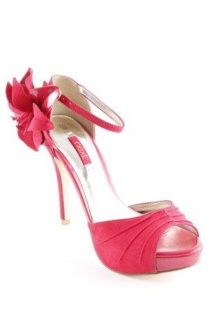 Next High Heel Sandaletten neonrot Party-Look