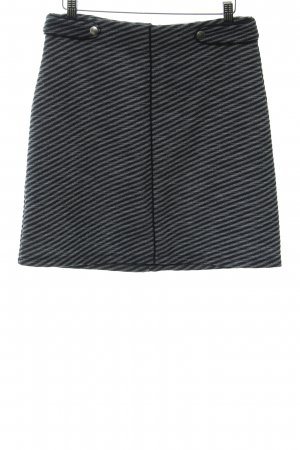 Next Falda de talle alto gris pizarra-azul oscuro estampado a rayas look casual
