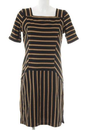 Next Jerseykleid schwarz-hellbraun Streifenmuster Casual-Look