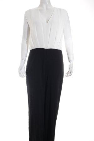Next Jumpsuit weiß-schwarz klassischer Stil