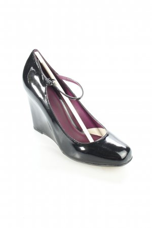 Next Keil-Pumps schwarz Glanz-Optik