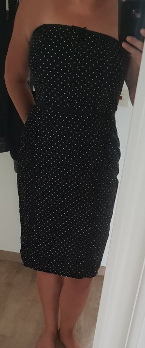 Next Vestido blanco-negro Algodón