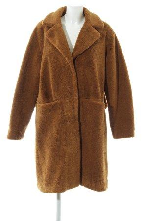 Next Fake Fur Coat brown casual look
