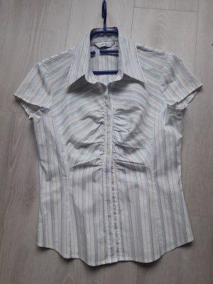 NEXT : Kurzarm Bluse wiß mit blauem Streifen Größe 40,fällt kleiner aus