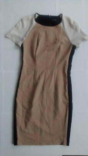Next kurzarm retro Kleid Gr. UK 6 EUR 34 XS schwarz beige weiß Minikleid