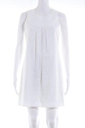 Next Vestido de manga corta blanco-blanco puro elegante