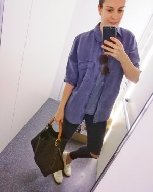 Next Leinenhemd Indigo Leinenbluse Leinen Bluse Hemd 40