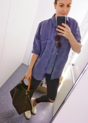 Next Linen Blouse slate-gray