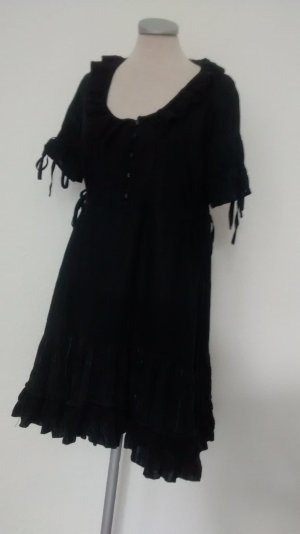 Next Lolita Hemdkleid Kleid kurz schwarz gothic Gr. UK 14 EUR 42 gerüscht