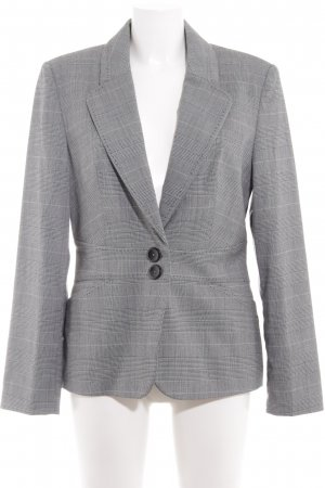 Next Blazer largo negro-gris estampado de pata de gallo estilo «business»