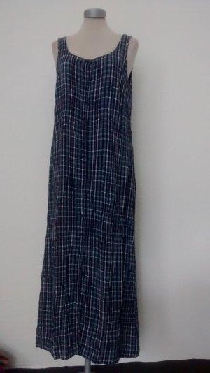 Next Maxikleid Sommerkleid Kleid lang blau kariert Gr. UK 14 EUR 42 neu