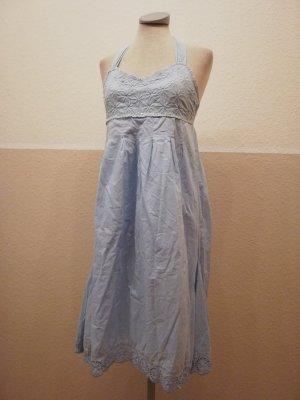 Next Vestido de cuello Halter azul celeste-azul aciano Algodón