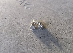 Next Ear stud silver-colored-white