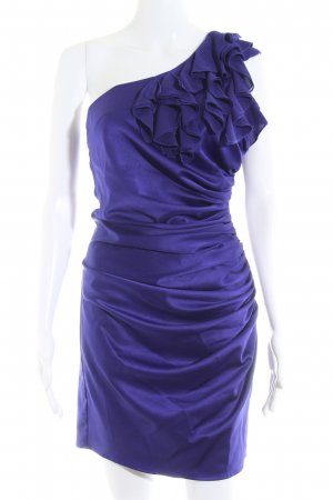 Next One-Shoulder-Kleid dunkelviolett Party-Look