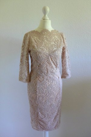 NEXT Party Abend Kleid Spitze Stretch nude rose rosa UK10 dt. 36 38
