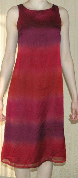 Next Petite Kleid Gr. 34 EUR 36 UK 8 XS ombre rot Sommer Midikleid