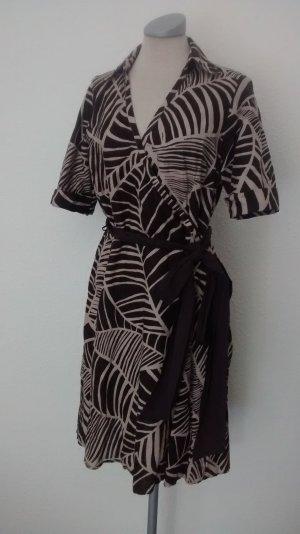 Next petite Leinenkleid Sommerkleid kurzarm Kleid Gr. UK 14 EUR 42 Wickelkleid