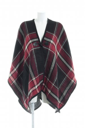 Next Poncho pied-de-poule patroon casual uitstraling