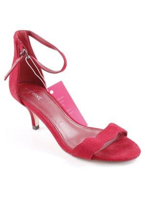 Next Riemchen-Sandaletten dunkelrot Casual-Look