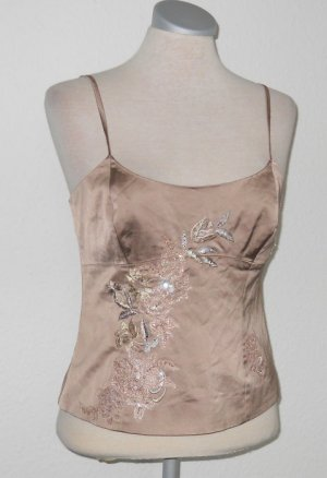 Next Satin Korsage Corsage Top Oberteil + Stickerei Gr. UK 10 36 38