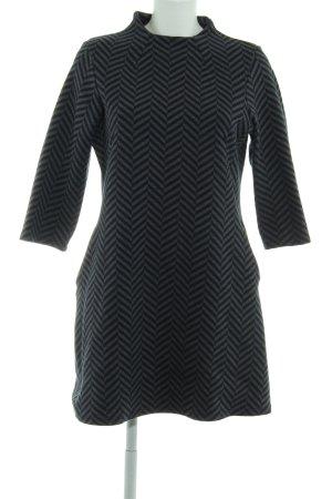 Next Stretch Dress grey-dark blue zigzag pattern elegant