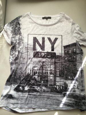 NEXT T-Shirt mit NY Aufdruck, Ausbrennershirt, Gr. 44, NEU und ungetragen