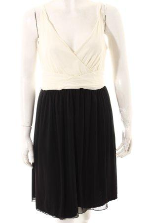 Next Trägerkleid weiß-schwarz