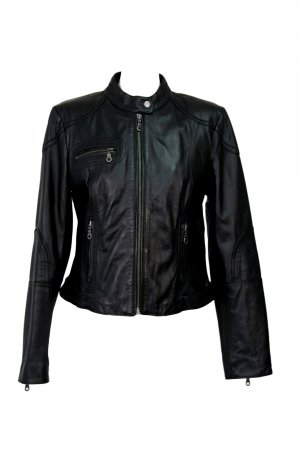 Next Woman  Lederjacke in Schwarz