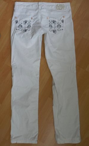 NFY ITALY Leichte Sommer Jeans Sommerhose ecru W28