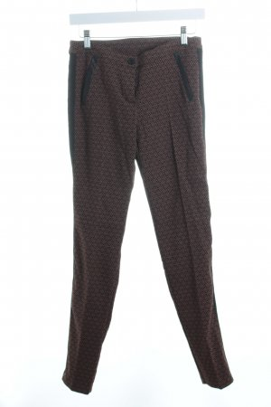 @ngy Six Stretchhose schwarz-braun abstraktes Muster Casual-Look