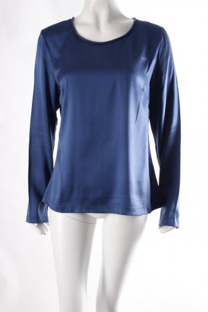 Nice Collection Langarm Bluse blau